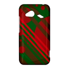 Red and green abstract design HTC Droid Incredible 4G LTE Hardshell Case