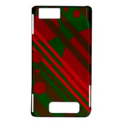 Red and green abstract design Motorola DROID X2