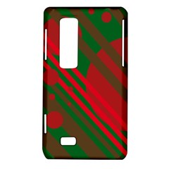 Red and green abstract design LG Optimus Thrill 4G P925