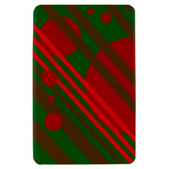 Red and green abstract design Kindle Fire (1st Gen) Hardshell Case