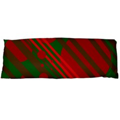 Red and green abstract design Body Pillow Case Dakimakura (Two Sides)