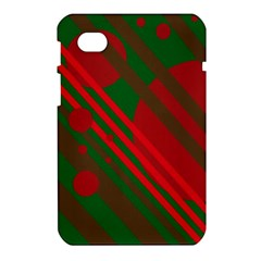 Red and green abstract design Samsung Galaxy Tab 7  P1000 Hardshell Case