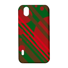 Red and green abstract design LG Optimus P970
