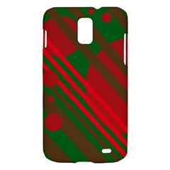 Red and green abstract design Samsung Galaxy S II Skyrocket Hardshell Case