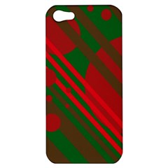 Red and green abstract design Apple iPhone 5 Hardshell Case