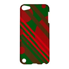Red and green abstract design Apple iPod Touch 5 Hardshell Case