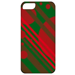 Red and green abstract design Apple iPhone 5 Classic Hardshell Case