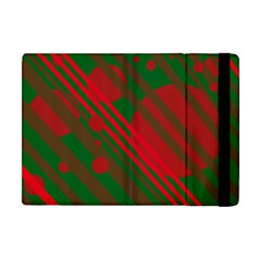 Red and green abstract design Apple iPad Mini Flip Case