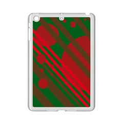 Red and green abstract design iPad Mini 2 Enamel Coated Cases
