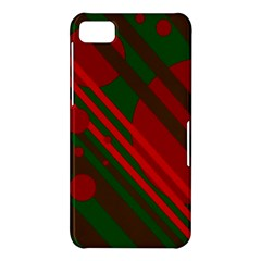 Red and green abstract design BlackBerry Z10
