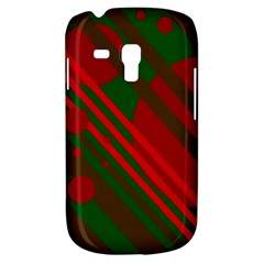 Red and green abstract design Samsung Galaxy S3 MINI I8190 Hardshell Case