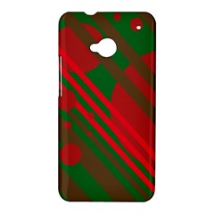 Red and green abstract design HTC One M7 Hardshell Case
