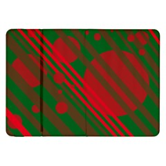 Red and green abstract design Samsung Galaxy Tab 8.9  P7300 Flip Case