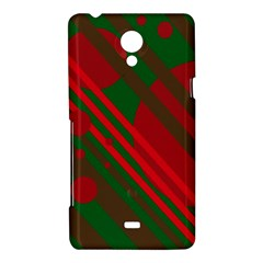 Red and green abstract design Sony Xperia T