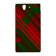 Red and green abstract design Sony Xperia Z