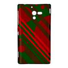 Red and green abstract design Sony Xperia ZL (L35H)