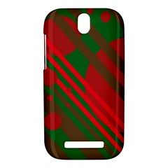 Red and green abstract design HTC One SV Hardshell Case