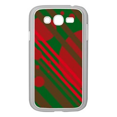 Red and green abstract design Samsung Galaxy Grand DUOS I9082 Case (White)