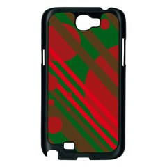 Red and green abstract design Samsung Galaxy Note 2 Case (Black)