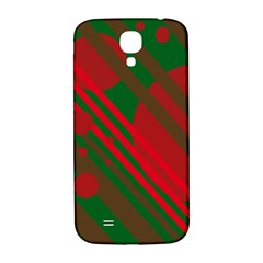 Red and green abstract design Samsung Galaxy S4 I9500/I9505  Hardshell Back Case