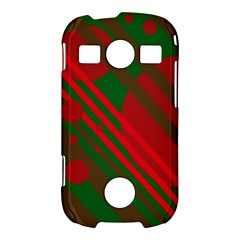 Red and green abstract design Samsung Galaxy S7710 Xcover 2 Hardshell Case