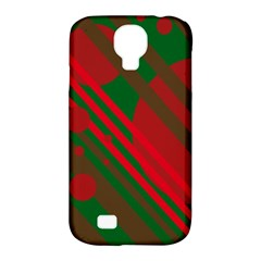 Red and green abstract design Samsung Galaxy S4 Classic Hardshell Case (PC+Silicone)
