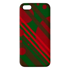 Red and green abstract design iPhone 5S/ SE Premium Hardshell Case