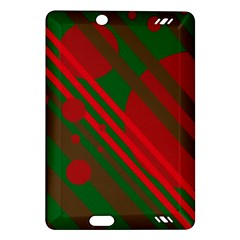 Red and green abstract design Amazon Kindle Fire HD (2013) Hardshell Case