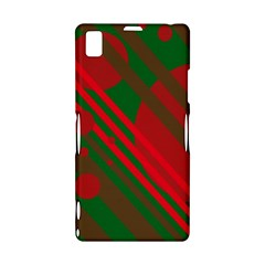 Red and green abstract design Sony Xperia Z1