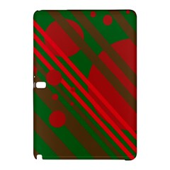 Red and green abstract design Samsung Galaxy Tab Pro 10.1 Hardshell Case