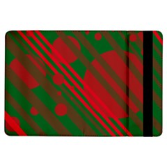 Red and green abstract design iPad Air Flip
