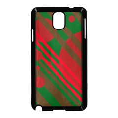 Red and green abstract design Samsung Galaxy Note 3 Neo Hardshell Case (Black)