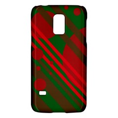 Red and green abstract design Galaxy S5 Mini