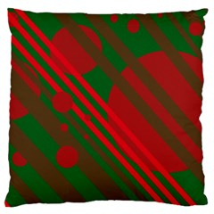 Red and green abstract design Standard Flano Cushion Case (Two Sides)