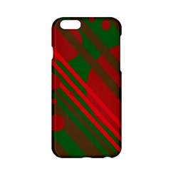 Red and green abstract design Apple iPhone 6/6S Hardshell Case