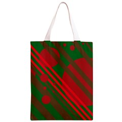 Red and green abstract design Classic Light Tote Bag