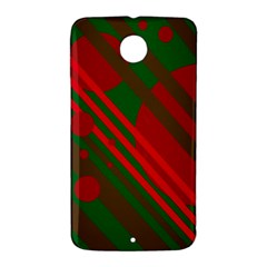Red and green abstract design Nexus 6 Case (White)
