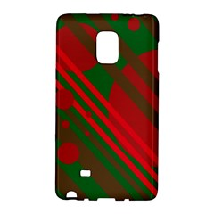 Red and green abstract design Galaxy Note Edge