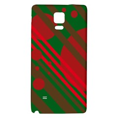 Red and green abstract design Galaxy Note 4 Back Case