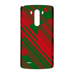 Red and green abstract design LG G3 Back Case