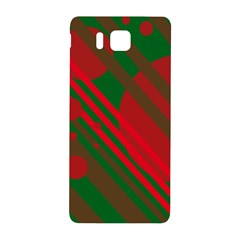 Red and green abstract design Samsung Galaxy Alpha Hardshell Back Case