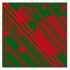 Red and green abstract design Large Satin Scarf (Square)