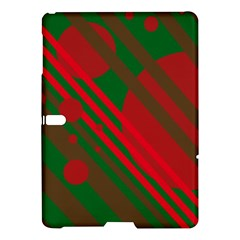 Red and green abstract design Samsung Galaxy Tab S (10.5 ) Hardshell Case