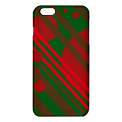 Red and green abstract design iPhone 6 Plus/6S Plus TPU Case