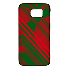 Red and green abstract design Galaxy S6