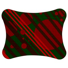 Red and green abstract design Jigsaw Puzzle Photo Stand (Bow)