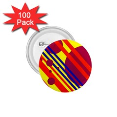 Hot circles and lines 1.75  Buttons (100 pack)