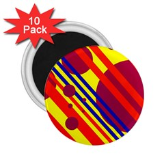 Hot circles and lines 2.25  Magnets (10 pack)