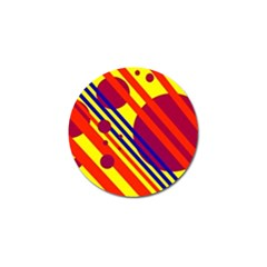 Hot circles and lines Golf Ball Marker (4 pack)