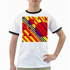 Hot circles and lines Ringer T-Shirts